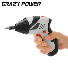 CRAZY POWER 4.8V Kit Set Rechargeable Screwdriver Cordless Reversible Electric Multi-functional Mini Screwdriver