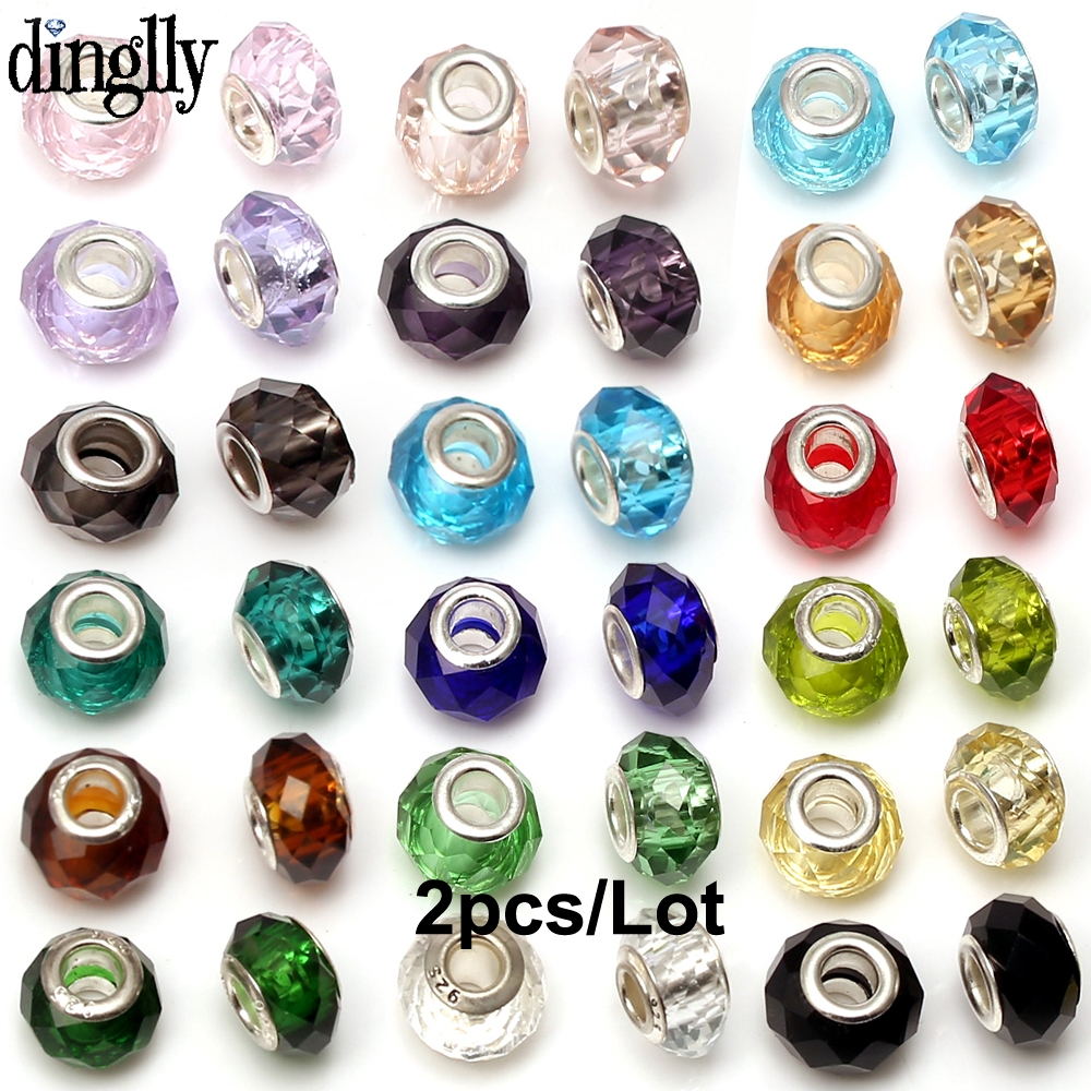 Fashion European Colorful Crystal Facets Beads Fit Brands Bracelets For Women Beaded Friends Couples Bracelet Bangles Gift(China)