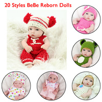 20 Styles NPKDOLL Bebe Reborn Dolls Newborn Girl Completely Silicone New Born Baby Doll Toys For