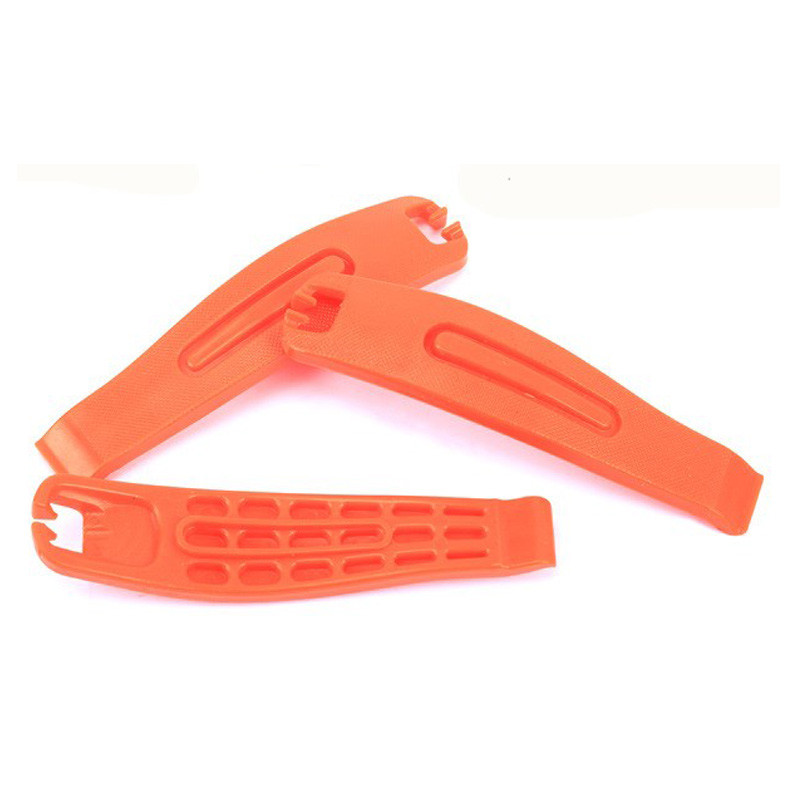 Orange Plastic Bicycle Tire Tube Change Levers Tool Set Multifunction Tool Kit 1 pc