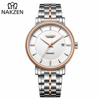 NAKZEN Men Business Wristwatch Brand Luxury Diamond Watch Automatic Mechanical Male Watches Clock Relogio Masculino Miyota 9015