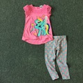 Free Shipping 8 Sets/lot NEW 2-6x Girls Pony Cotton Tops and Pants Summer Outfit