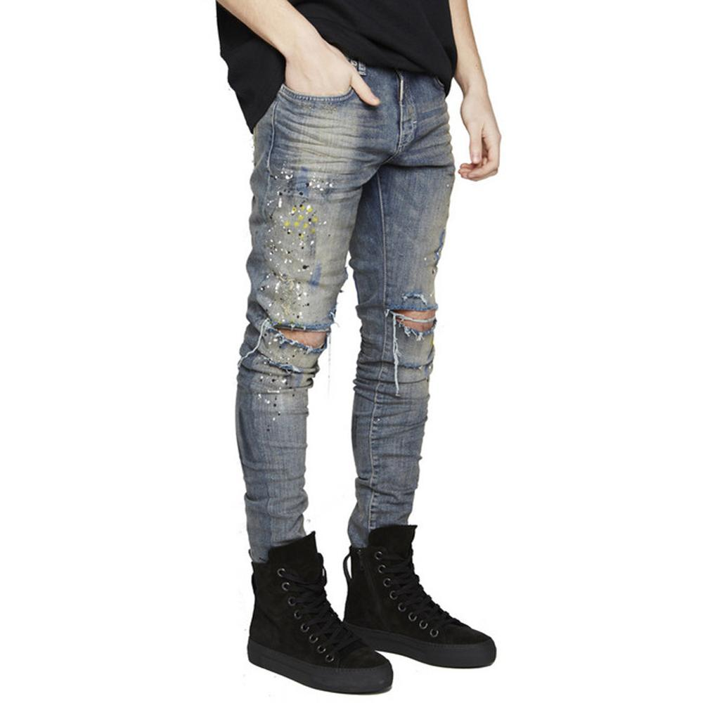 NEW fashion brand designer men's denim Mens Jeans Slim Fit Men Biker Jeans Trousers Straight Leg dark Blue Jean Pants 2017 fashion patch jeans men slim straight denim jeans ripped trousers new famous brand biker jeans logo mens zipper jeans 604