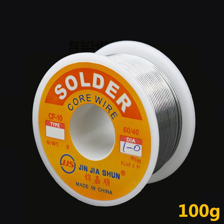 2018 HOT 100g 0.6/0.8/1/1.2 <font><b>60/40</b></font> FLUX 2.0% 45FT Tin Lead Tin Wire Melt Rosin Core <font><b>Solder</b></font> Soldering Wire Roll No-clean image