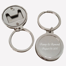 100Pcs Personalized Party Gift Souvenir,Silver Customized Wine Bottle Opener/Keychain Wedding Favors,Engagement Suuplies