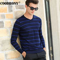 2016 New Autumn Winter Knitted Cashmere Sweater Men Brand Clothing Fashion Striped V-Neck Pullover Men Wool Sweaters XXXXL 66176