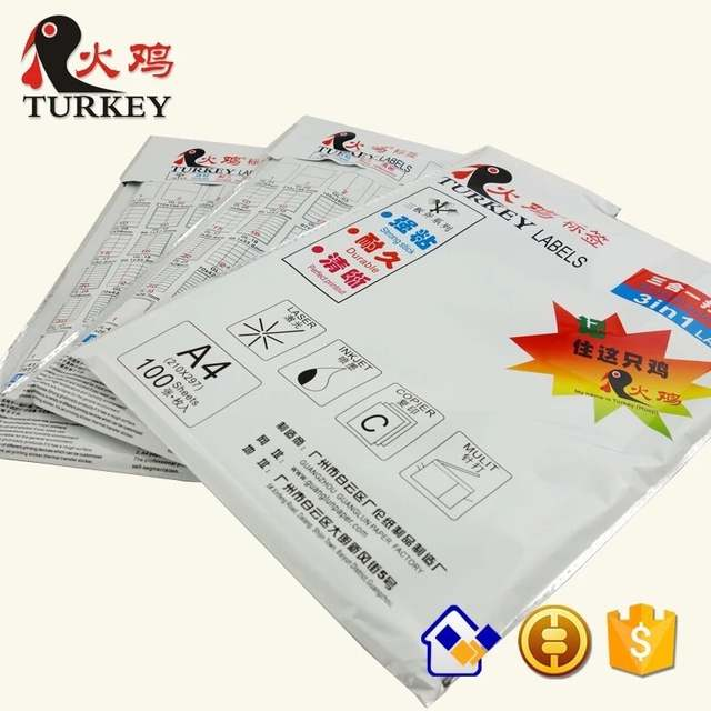 US $13 9 | GL 35 A4 40 up address print label sheets 52 5* 29 7mm 50sheets  2000 stickers Amazon FBA shipping label-in Stationery Stickers from Office