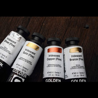 Import fluid acrylic paint Metallic pigment open slow drying acrylic pigment iridescent 59ml / bottle gradient free shipping
