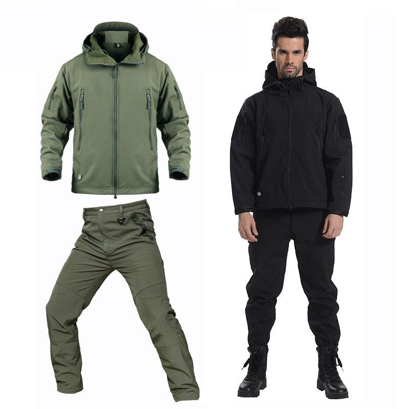 Hiver polaire Softshell imperméable Camouflage randonnée vestes hommes pantalon Soft shell travail Trek manteau Trekking pantalon veste femmes