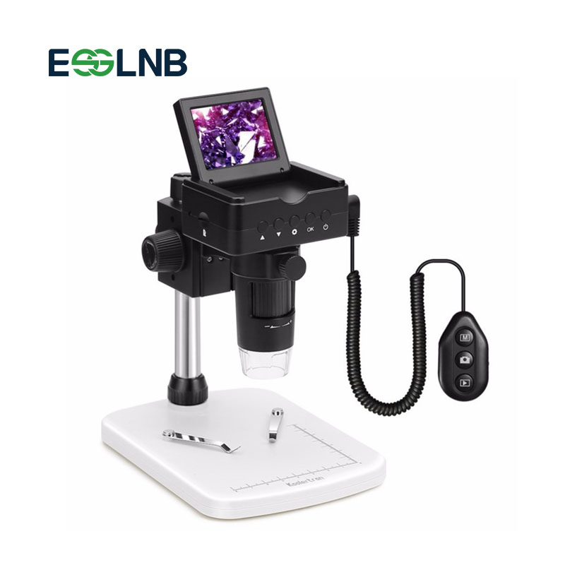 1080 P HDMI/AV/USB Microscope Numérique Zoom 20-220X avec Réglable Stand et 6 LED 2.4 pouces LCD caméra Vidéo Microscope
