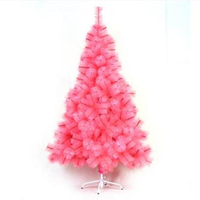 1 5 m 1 8 m rosa agujas de pino navidad rbol navidad hotel casa centros comerciales decoraci n - Arboles de navidad rosa ...