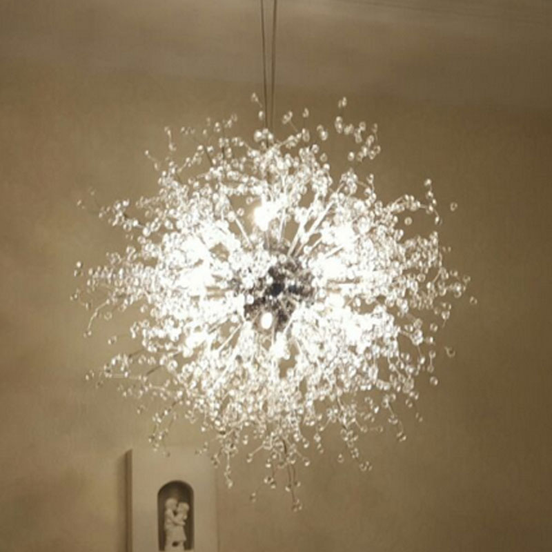 vanity acrylic decoration Bulb led fancy lamp modern style bedroom fitting pendant living room chandelier