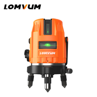 LOMVUM Laser Level 5 Lines 360 Rotary laser line leveling green line Precise measurement laser level indoor&outdoor laser level