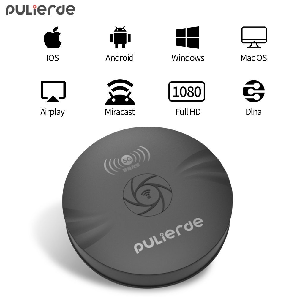 PULIERDE 5GWifi Display Dongle Chromecast Wireless HDMI Receiver font b TV b font Stick Adapter Support
