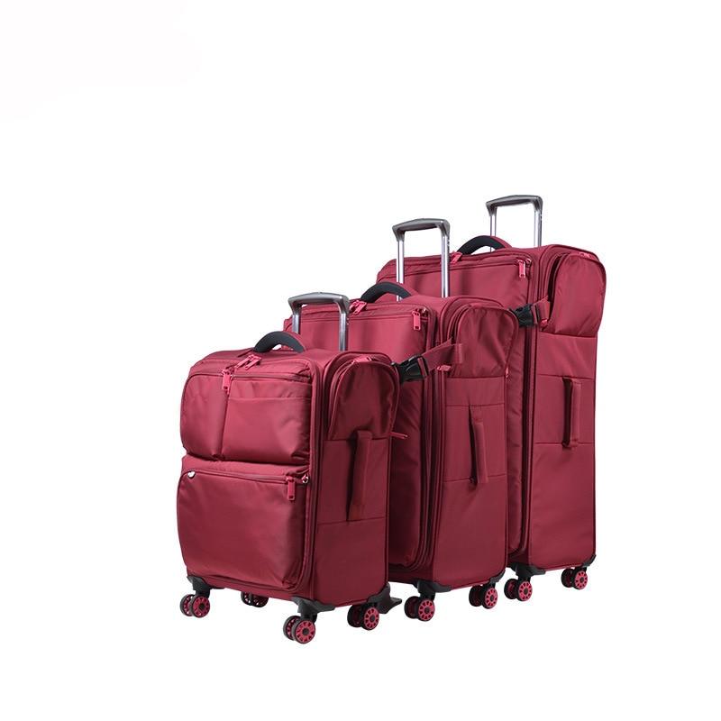 20''24''28'' Donna Di Viaggio Dei Bagagli Oxford Valigia Imbarco Dei Bagagli Di Rotolamento Caso Filatore Trolley Valigia Mala De Viage