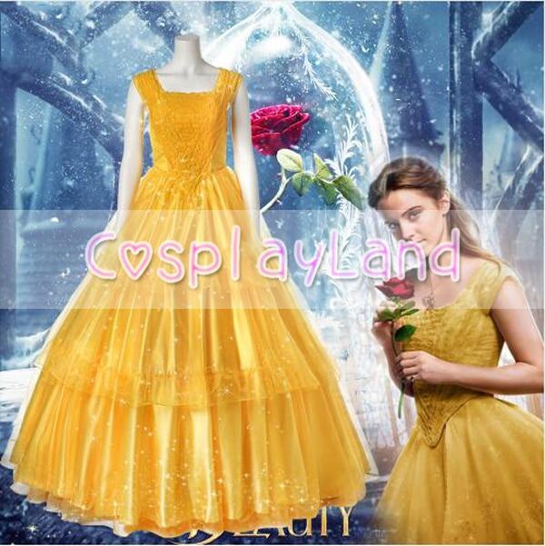 Princess Belle Dress Long Dress Evening Wedding Dress 2017 Beauty ...