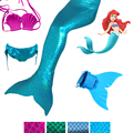 4 Pieces Girl's Mermaid Tails For Swimming Costume with Monofin Kid Zeemeerminstaart Cola De Sirena Cauda De Sereia Cosplay
