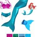 4 Unidades de la Muchacha Colas De Sirena Para El Traje De Baño con Monoaleta Kid Zeemeerminstaart Cauda De Cola De Sirena Sereia Cosplay