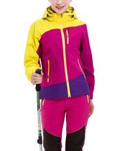 Wysokiej jakości damskie kurtki Softshell na każdą pogodę wodoodporne wiatroodporne pary anty-uv Mountain Outwear odzież do chodzenia tanie tanio LANBAOSI Kieszenie Zamki Łączone Pełna REGULAR Patchwork COTTON Poliester zipper Szeroki zwężone Skręcić w dół kołnierz
