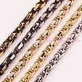 Frescos dos homens de Aço Inoxidável 316L 5mm Bizantino Chain link Colar & Pulseira de Múltiplas Opções de Cores 7-40 polegada Tamanho Costom Jóias
