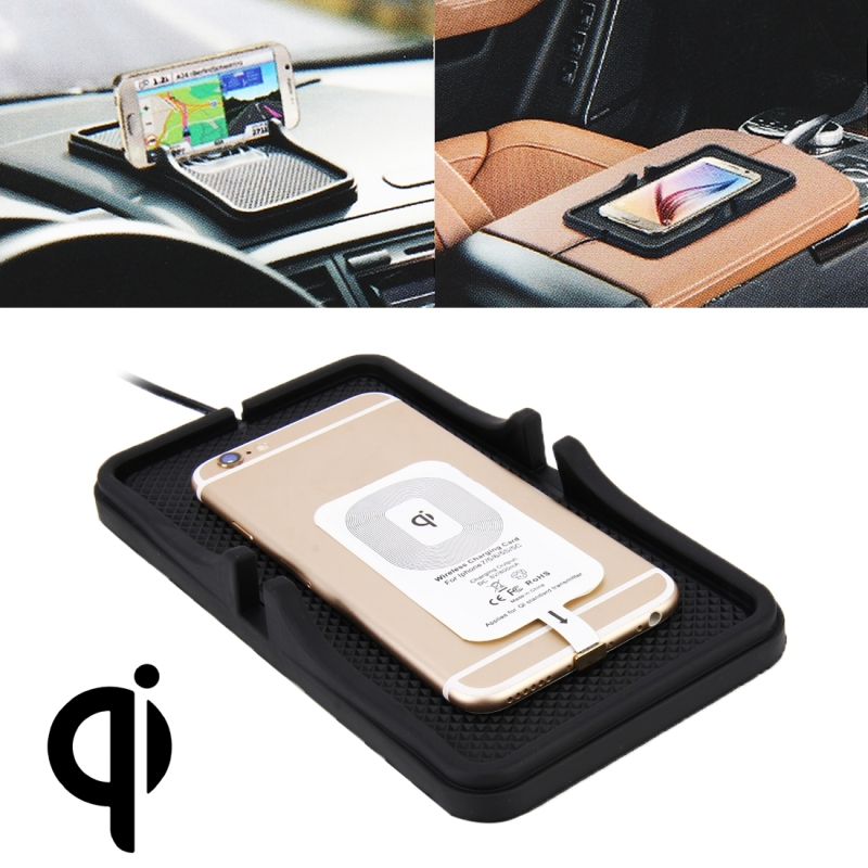 все цены на Home Car DC 5V/2A 5W Fast Charging Qi Standard Wireless Charger Pad for iPhone for Galaxy Other QI Standard Smart Phones