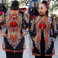 África Bazin Riche Africano Vestidos de Promoción de la Oferta Especial de Poliéster 2016 Chaqueta Con Capucha Ropa de Las Mujeres