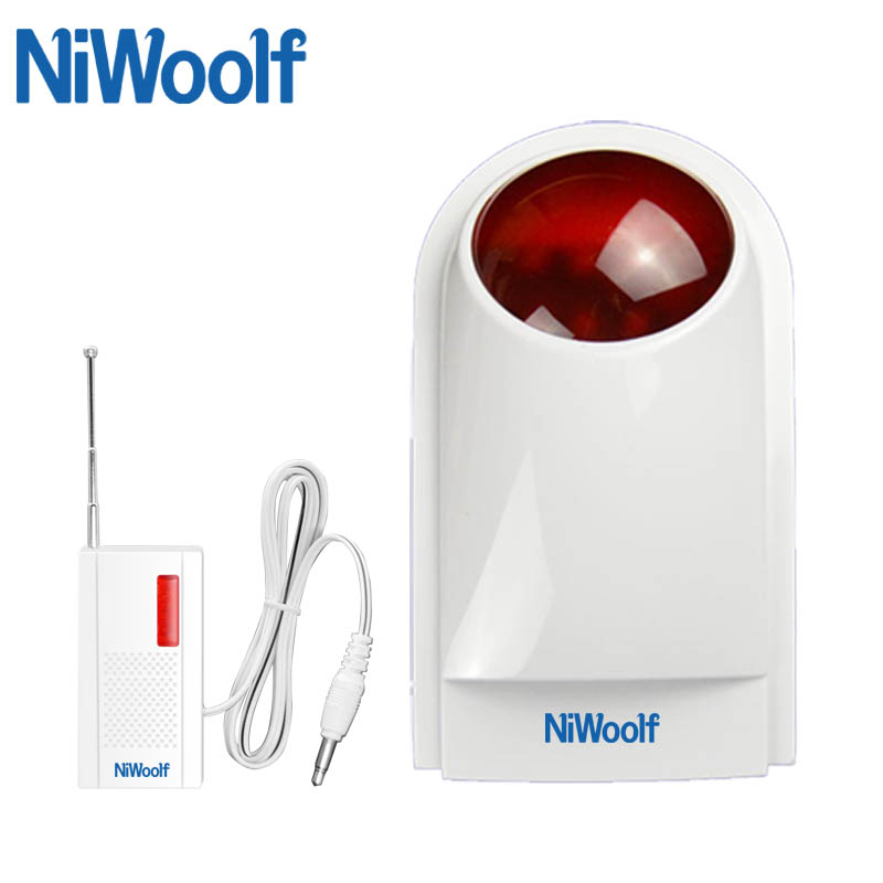 NEW! High Quality Wireless Waterproof Strobe Siren 433MHz   For Home GSM Alarm System Security|siren 433mhz|siren wireless|siren strobe - title=