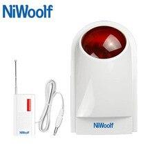Nowy! Wysokiej jakości bezprzewodowy wodoodporny syrena stroboskopowa 433 MHz, do domu system alarmowy gsm bezpieczeństwa