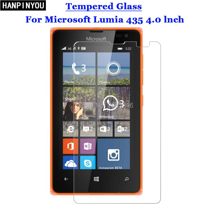 For Lumia 532 435 Tempered Glass 9H 2.5D Premium Screen Protector Film For Microsoft Nokia Lumia 532 435 4.0