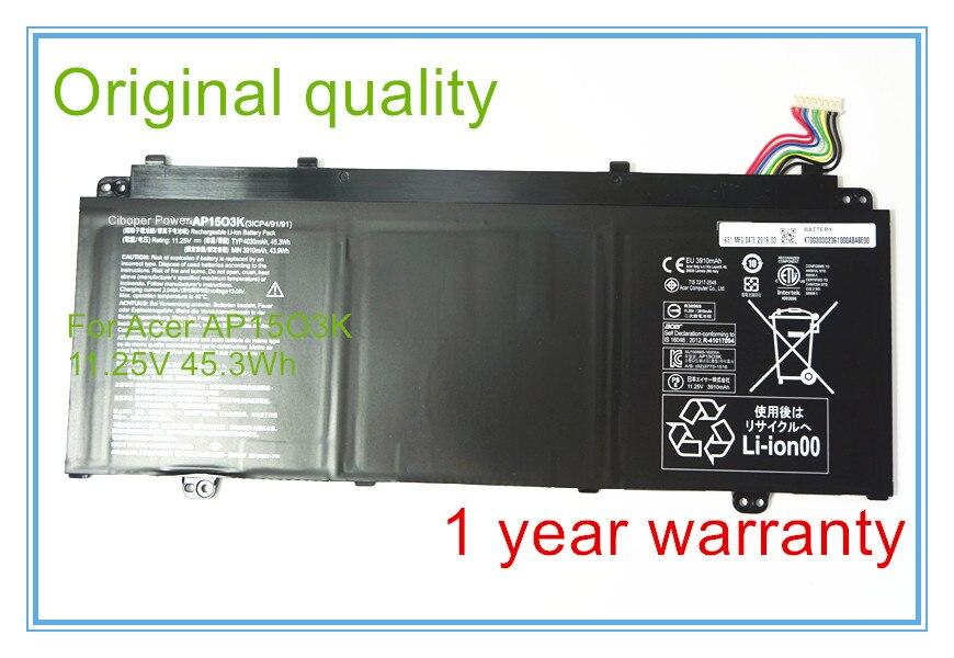все цены на  Original quality for S5-371 Battery AP1503K AP15O3K 11.25V 45.3Wh  онлайн