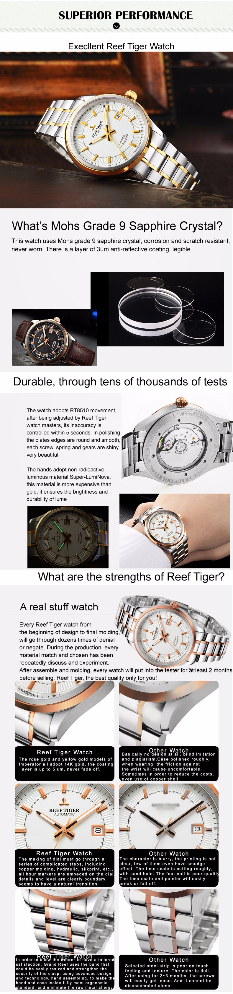 Reef tiger rt negócios masculino classe superior