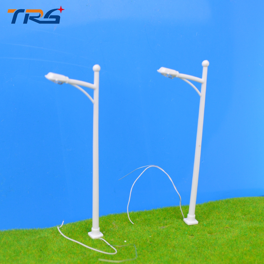 Teraysun 1:100 Scale Plastic Street Lamp Model 100Pcs Model Making Scale Model Street Light for Railway Layout