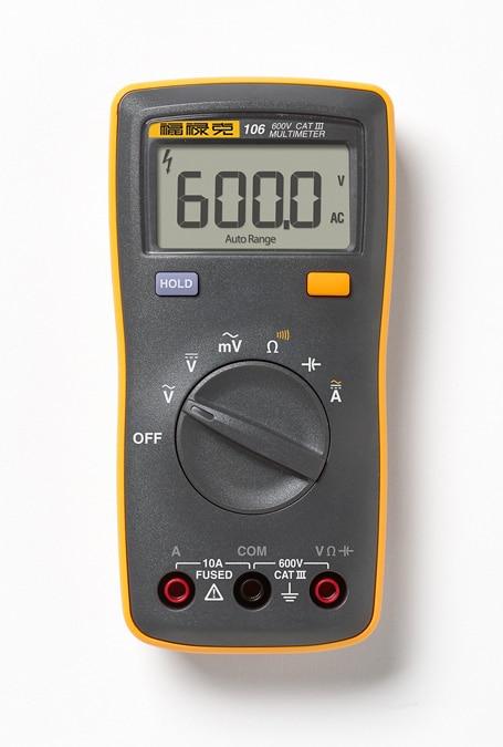 Free Shipping New Fluke 101 101kit 106 107 Handheld Digital Auto Range Digital Multimeter AC DC