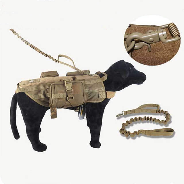 Tactical Dog Leash Quick Release Heavy Duty Panic Snap Adjustable Dog Leash Military Dog Tactical Leads belt Waterproof  Nylon