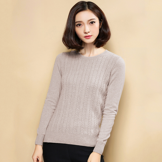 100% cashmere sweaters and pullover for women 2017 winter New O ...