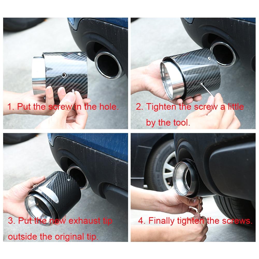 Free Shipping 1pcs car carbon fiber exhaust tip Muffler tips fit for mini  cooper R55 R56 R57 R58 R59 R60 R61 F54 F55 F56 F57 F60