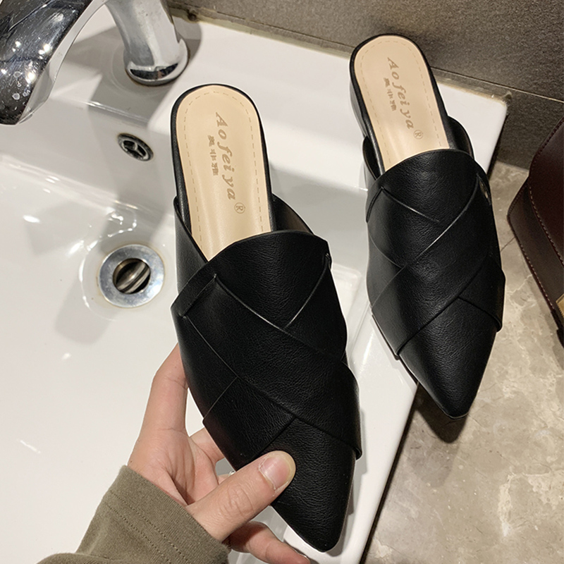Moxxy Summer Casual Flat Mules Shoes