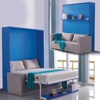 Льняная ткань, каркас кровати, Электрический мягкий диван, Настенная кровать, мебель для спальни, Камы, освещенные muebles de dormitorio yatak, мобильный...