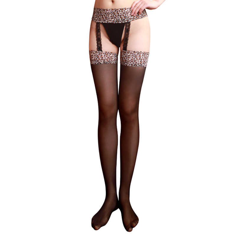 Suspender Pant Bodysuit Jumpsuits Stockings Racy Pantyhose Leopard R Sexy Body/X