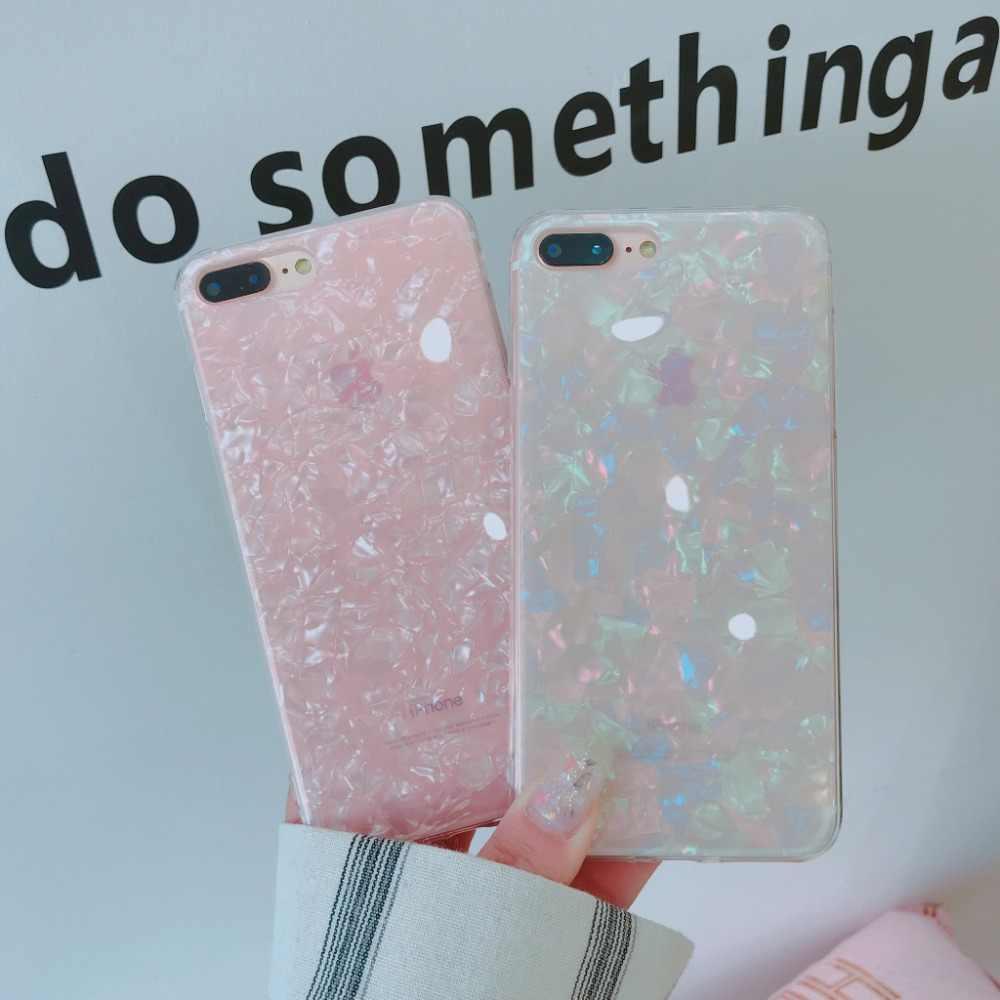 Luxus Glitter Candy Farbe Rosa Weiß Bling Silikon Klar Weichen Telefon Fall Für Samsung Galaxy S7 Rand S8 S8Plus S9 s9Plus Note8