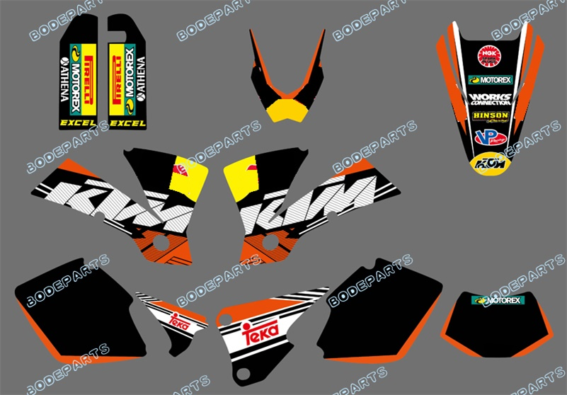 R B Logo (Bull ) Motorcycle Exc Decal <font><b>Stickers</b></font> Kits FOR <font><b>KTM</b></font> Motorcycle EXC 125/200/250/300/400/<font><b>450</b></font>/525 2003 image