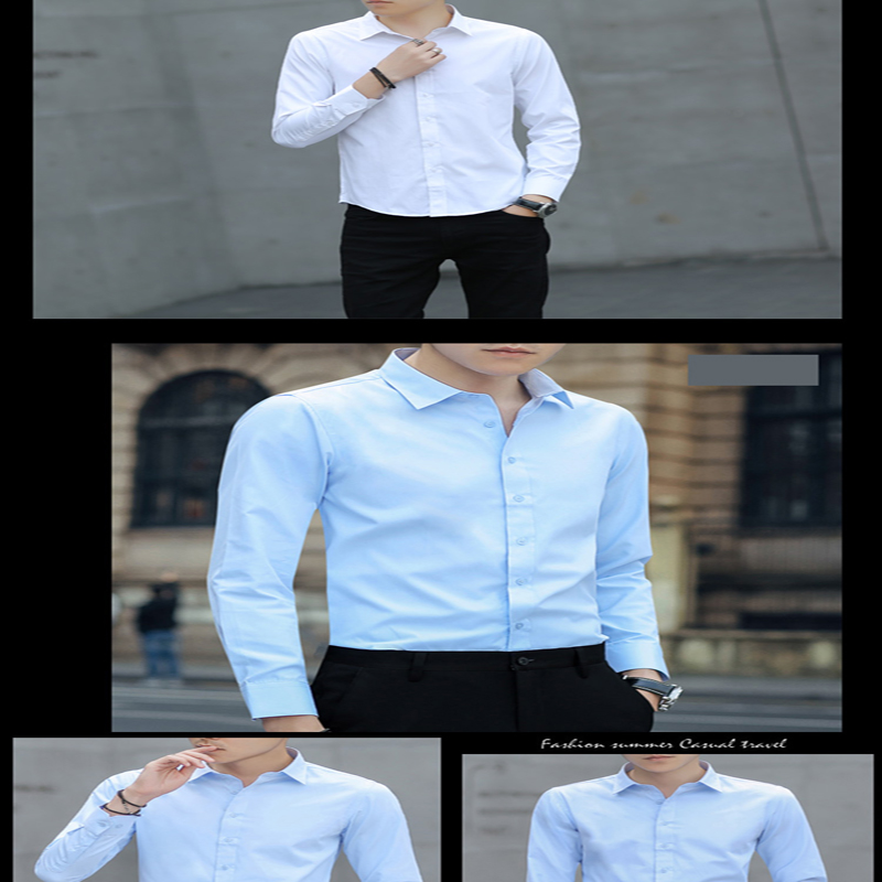 Brand New Cotton Breathable Business Casual shirts Fashion Short Sleeve Male Tops Tee Fashion Stand Down Collar shirt ZT024 22