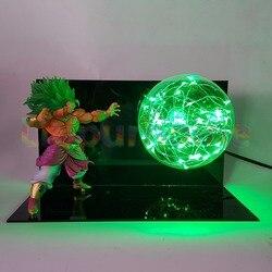 Dragon Ball Z Broly Мощность зеленый светодиодной вспышкой Ночные светильники лампы аниме Dragon Ball супер свет Luces Navidad