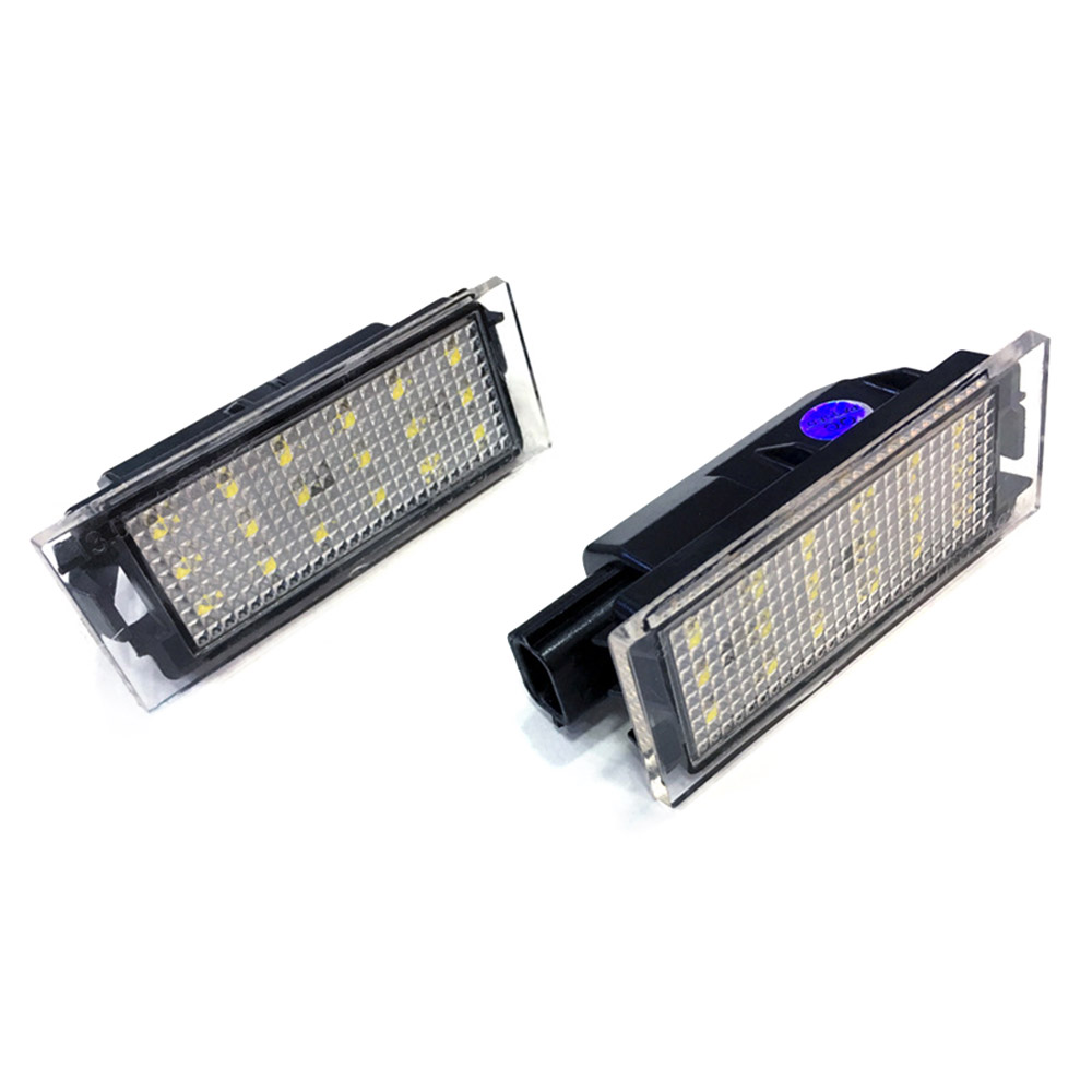 2pcs Car LED License Plate Light SMD 3528 for Renault Megane 2 Clio Laguna 2 Megane 3 Twingo Master Velsatis in Car Light Assembly from Automobiles Motorcycles