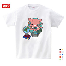 Girls Baby Clothes for Summer Submarine Octopus Cartoon Printing T Shirt Girls Summer Clothes Short White Cotton T-shirts 3T-9T