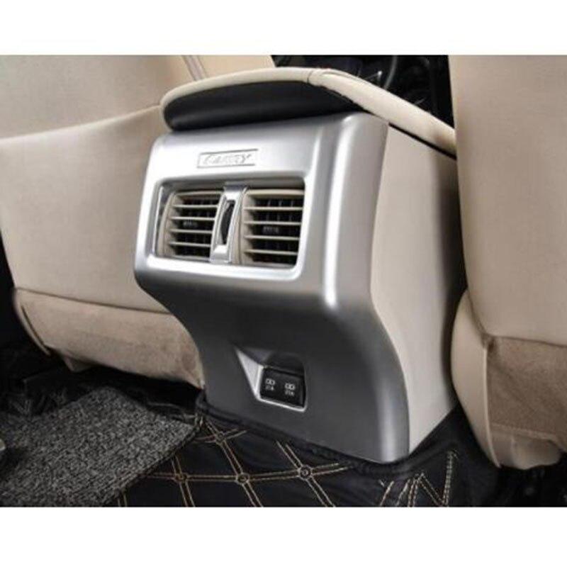 Chrome ABS pour Toyota Camry 2018 chargeur arrière de voiture climatisation arrière sortie de ventilation cadre de protection garniture de voiture