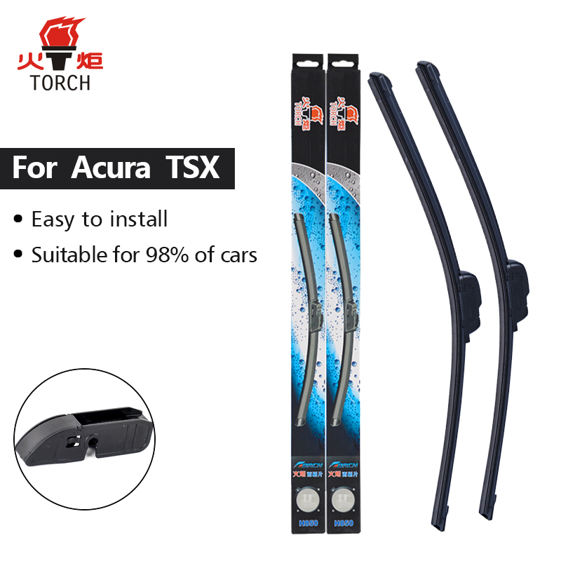 TORCH Wiper Blades For Acura TSX Fit Hook Arms 2004 2005