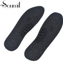 Soumit Silicone Magnetic Therapy Durable Insoles Comfortable Inserts Foot Health Care Pain Relief Massage Insoles for Men Women