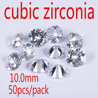 Wholesale Jewelry Supplies Swiss AAA Grade CZ Cubic Zirconia Round Zircon 10 0MM DIY Jewelry Findings