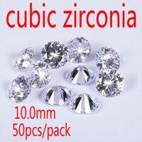 Wholesale Jewelry Supplies Swiss AAA Grade CZ Cubic Zirconia Round Zircon 10 0MM DIY Jewelry Findings